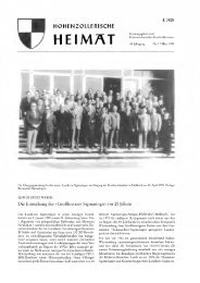 heimat - Hohenzollerischer Geschichtsverein eV