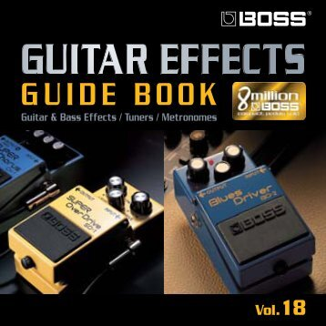 BOSS Guitar Effects Guide Book Vol.18 - Roland