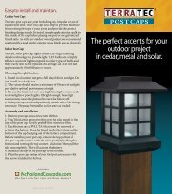 The perfect accents for your outdoor project in cedar ... - Home Depot