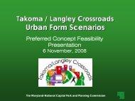 Urban Form Scenarios - Prince George's County Planning Department