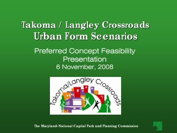 Urban Form Scenarios - Prince George's County Planning Department