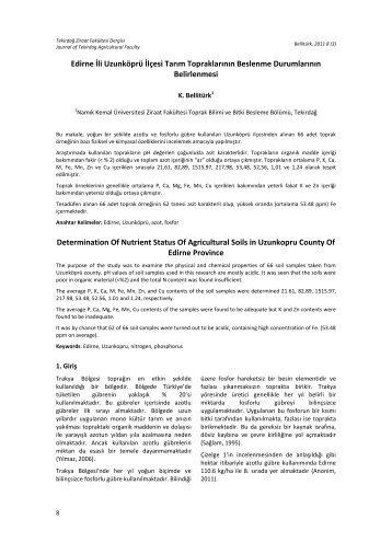 YURTDIŞI KÖKENLİ BAZI EKMEKLİK BUĞDAY (Triticum aestivum L