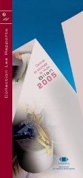 Centres de l'Aube Bilan 2005 - Andra