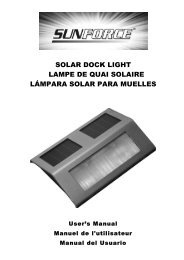 solar dock light lampe de quai solaire lámpara solar ... - Home Depot