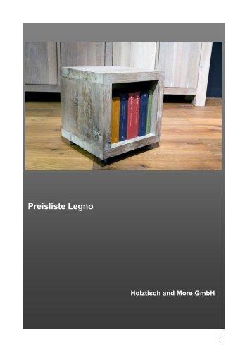 Preisliste Legno - holztisch.ch