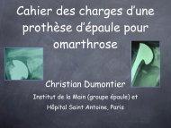 Prothèse épaule: cahier des charges C. Dumontier - ClubOrtho.fr