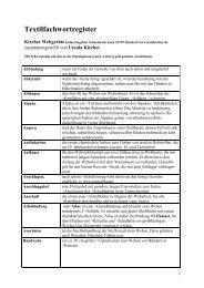 Textilfachwortregister - Kircher