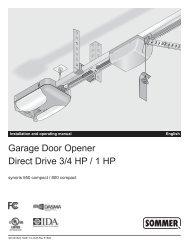 Garage Door Opener Direct Drive 3/4 HP / 1 HP - Home Depot