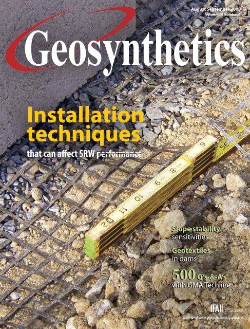 Geosynthetics, August/September 2008, Digital Edition