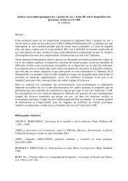 Analyse socio-anthropologique des « perdus de vue » d'une file ...