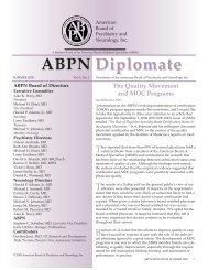 ABPN preCERT FAQs - American Board of Psychiatry and Neurology