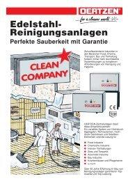 Edelstahl- Reinigungsanlagen - von Oertzen GmbH