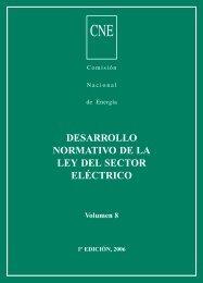 desarrollo normativo de la ley del sector eléctrico - Comisión ...