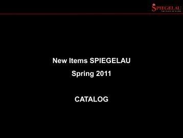 New Items SPIEGELAU Spring 2011 CATALOG - HOTELINE