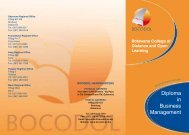 Business Management Brochure - BOCODOL