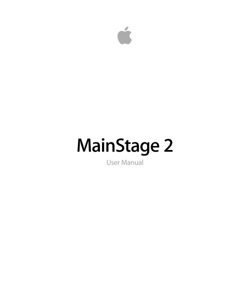 Mainstage 2 User Manual - Help Library - Apple