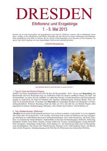 Reiseinformation Dresden - Logos Reisen