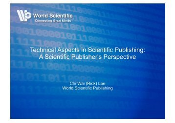 Technical Aspects in Scientific Publishing: A Scientific ... - WING