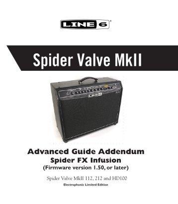 Spider Valve Mkii Advanced Guide Addendum ... - zzounds.com