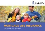 Mortgage Life Insurance booklet - Irish Life