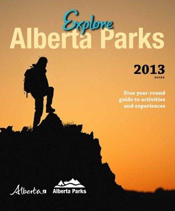 2013 Explore Alberta Parks Guide - AlbertaParks.ca