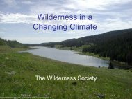 Wilderness in a Changing Climate - Wilderness.net
