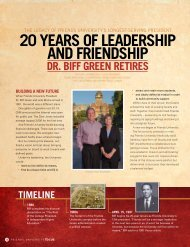 20 Years of Leadership and friendship dr. Biff ... - Friends University