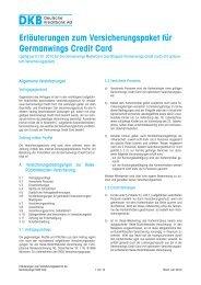 Erläuterungen zum Versicherungspaket für Germanwings ... - DKB