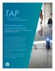ProLiant Education and training from HP - Hewlett Packard