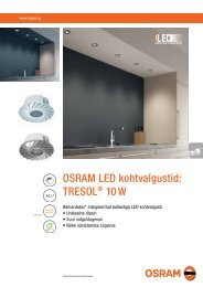 Koduvalgustid TRESOL 10W - OSRAM