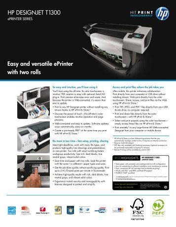 HP DESIGNJET T1300 Easy and versatile ... - Hewlett Packard