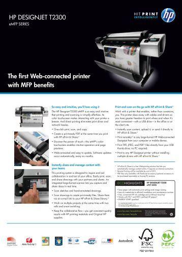 HP DESIGNJET T2300 The first Web-connected ... - Hewlett Packard
