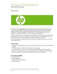HP Windows 7 Onsite Upgrade Service - Hewlett Packard