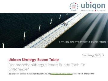 Ubiqon Strategy Round Table - Ubiqon Management Partners