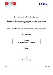 Cours Économie hydraulique - EPFL