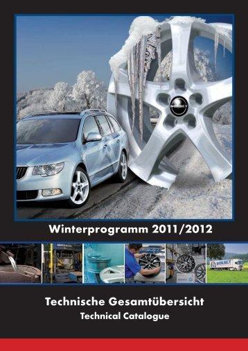 Technische Gesamtübersicht Winterprogramm 2011/2012 - Borbet