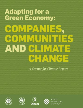 Adapting for a Green Economy: - World Resources Institute