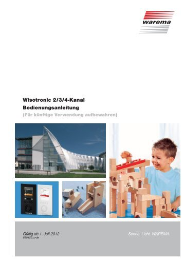 Wisotronic 2/3/4-Kanal Bedienungsanleitung - Warema
