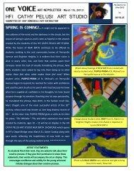 Mar 19 2013 ONE VOICE Art Newsletter