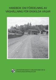 Handboken om fördelning av väghållning för ... - Maanmittauslaitos