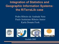 Integration of Statistics and Geographic Information Systems: the R ...