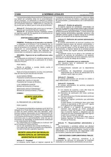 Decreto Legislativo Nº 1057 - Servir