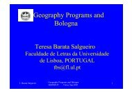 Geography Programs and Bologna - HERODOT Network for ...