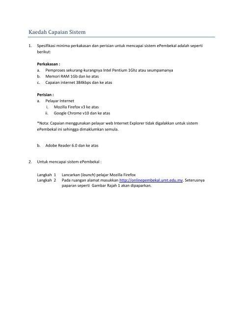 Manual Pengguna Sistem Pendaftaran Pembekal Umt