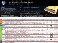 HP Business Notebooks & Options