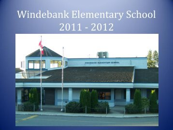 Windebank Elementary School 2010 - 2011