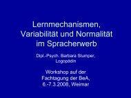 Workshop Lernmechanismen Barbara Stumper