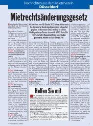 Mietrechtsänderungsgesetz - Deutscher Mieterbund