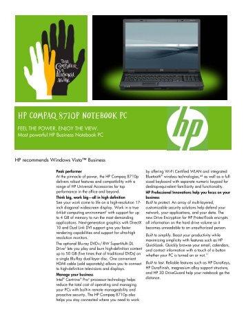 HP Compaq 8710p Notebook Intel AMT Drivers PC