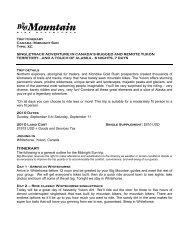 Yukon RequestInfoMASTER - Big Mountain Bike Adventures